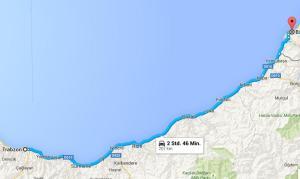 Route Batumi